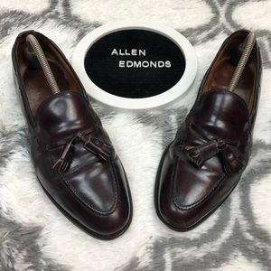 Allen Edmonds GRAYSON Burgundy Tassel Loafers 10 B